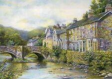Beddgelert, Wales, England, Village, Bridge - Modern United Kingdom Art Postcard