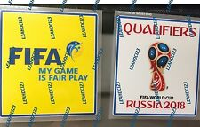 "FIFA World Cup 2018  Qualifiers Arm Patch ""Real with Application Guide"""