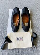 LANVIN Classic Black Leather Ballet Flats - Sz 7