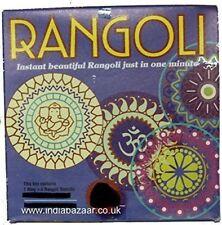 5pc rangoli Set 4 Stencils + 1 Anillo 20 Cm diámetro GRATIS UK FRANQUEO
