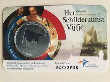 NEDERLAND 5 EURO  2011: SCHILDERKUNST VIJFJE IN COINCARD