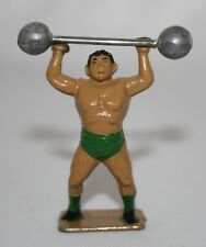 CHARBENS Lead Toy CIRCUS STRONG MAN + DUMBBELL. Often seen w/ Britains Figures