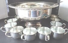 Oneida Silversmith Silverplate 14 pc. Punch Bowl set