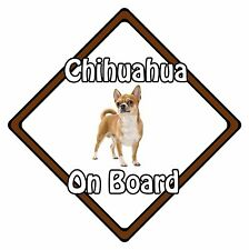 Non Personalised Dog On Board Car Safety Sign – Smooth Coat Chihuahua On Board