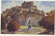 Vintage Postcard (1957) - Edinburgh Castle and Ross Fountain - Posted 2070