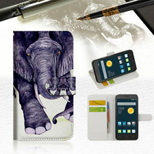 Elephant Wallet Case Cover For Telstra Optus Alcatel Pixi 3 4.5 --A007
