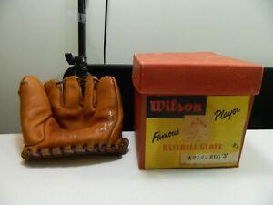 Floyd Baker Near Mint Wilson Baseball Glove Original Box 1944 St Louis Browns