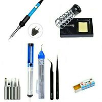 Soldering Iron Gun Kit Electrical Wire Tips Tool Set Solder Station 60W 220V EU