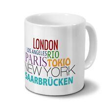 "Städtetasse Saarbrücken - Design ""Famous Cities in the World"""