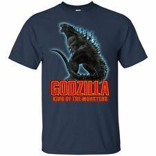 Monster Godzilla Shirt King Of The Moster 2019 T-shirt Black Navy Summer Tee