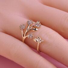 Damen Fingerring Schmetterling Daumenring Kristall Strass Ringe Geschenk