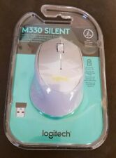 NEW Logitech M330 SILENT Silver Wireless Optical Mouse