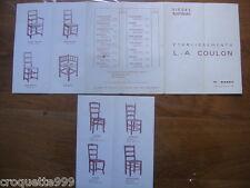 Brochure catalogue SIEGES RUSTIQUES etablissements COULON 71 Rancy Saone Loire