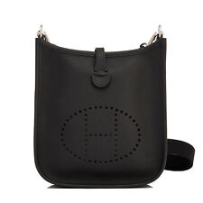 Hermes Black Evelyne TPM Epsom Cross-Body Messenger Shoulder Bag