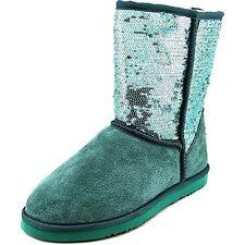 Lamo Women's Sequin Suede Faux Shearling Boot Emerald Green Shoe Size 11