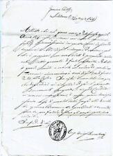 Manoscritto Morte Giacomo Guerrieri Pieve S. Mamante di Lizzano Bevedere 1851
