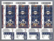 2010 NLCS FULL UNUSED BASEBALL TICKET SHEET - PHILLIES @ SAN FRANCISCO GIANTS