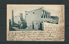 EGYPT 1901 PPC CAIRO to NEW YORK (showing picture of LUXOR)