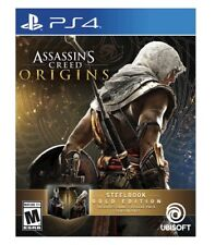 Assassin's Creed: Origins -- SteelBook Gold Edition (Sony PS4) GAME SHIPS 10/27
