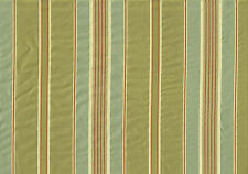 Avon Silk Fabric 100 Silk Stripe Green Red Gold Aqua Drapery Upholstery