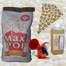 10kg Popcorn Mais, genfrei Popcorn Mais +7x popcornöl +300 POPCORN cartocci, a punta cartocci