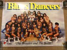 1980's St. Louis Blues Dancers Ice Girls Team Photo Poster SGA Souvenir Rare