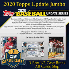 NEW YORK METS 1/2 Case 3 Box 2020 Topps Update Jumbo Hobby Break #2