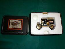New Ertl Harley Davidson 1913 Ford Model T Van Dime Bank With Tin