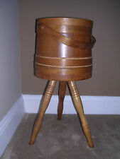 Vintage Sewing Box with Three Legs, Light Maple, Country Inspired - Free Ship