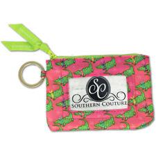 Alligator Bandana Lime Green and Pink 5 x 4 Polyester Fabric ID Wallet
