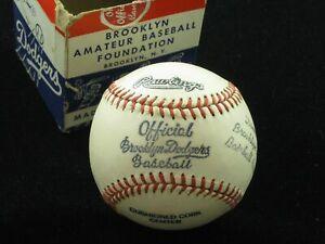 1950s Official Brooklyn Dodgers Amateur Baseball Foundation Ball w/ Original Box