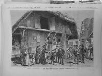 1877 Ji Moeurs Alsaciano Santa Cecile Oberseebach Dibujo Kauffman