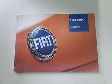Manuale autoradio Fiat Stilo Edizione 2002   [3325.14]