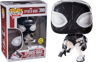 EXCLUSIVE Negative Suit Spider-Man 399 Glow GITD Funko Pop Vinyl New in Mint Box
