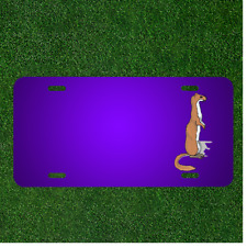 Custom Personalized License Plate With Add Names To Ferret Animal Mammal