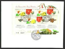 Uruguay 2020 Spring  Sheetlet insects pollinators bee bumblebee flowers FDC