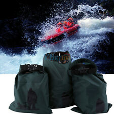 3pcs Green Waterproof Dry Storage Pouch Bag Sack For Canoe Rafting  Equipment