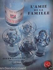 PUBLICITÉ 1959 LA VITTELLOISE EFFERVESCENTE L'AMIE DE LA FAMILLE - ELIZA FENN