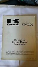 Kawasaki KDX 200 e2 KDX200-E2 1990 Service Manual Supplement