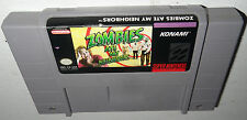 Super Nintendo Game ZOMBIES ATE MY NEIGHBORS! Cleaned Tested Works! Fun SNES