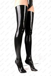 3971 Latex Rubber Gummi Stocking thigh-highs socks customized sexy catsuit 0.4mm