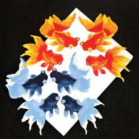 Goldfish Fish Embroidery Iron On Applique Patch Bags Dress Clothes DIY Applique