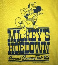 80s Vintage Mickey Mouse Shirt Cowboy Hoedown Disney 5050 Cartoon Rare 1980s
