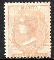Malta 1863 pale-buff 1/2d crown CC perf 14  mint SG11
