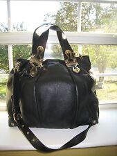 "Michael Kors  ""JOPLIN""  Convertible Shoulderbag LRG. Black Leather  EUC  $448.00"