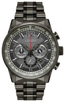 Citizen Eco-Drive Nighthawk Men's Chronograph Ion Plated 43mm Watch CA4377-53H