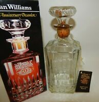 Evan Williams 200th Anniversary Glass Whiskey Decanter Bottle with Box & Tag