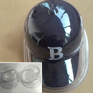 3PCS Acrylic Clear Baseball Football Cap Dustproof Hat Display Case Holder
