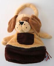 """Ganz Zip & Stows Puppy Dog 9"""" Plush Hand bag Purse HB302"""