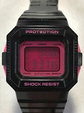 Casio Ladies Black G-Shock Mini Digital Sport Watch GMN550 LIMITED EDITION RARE